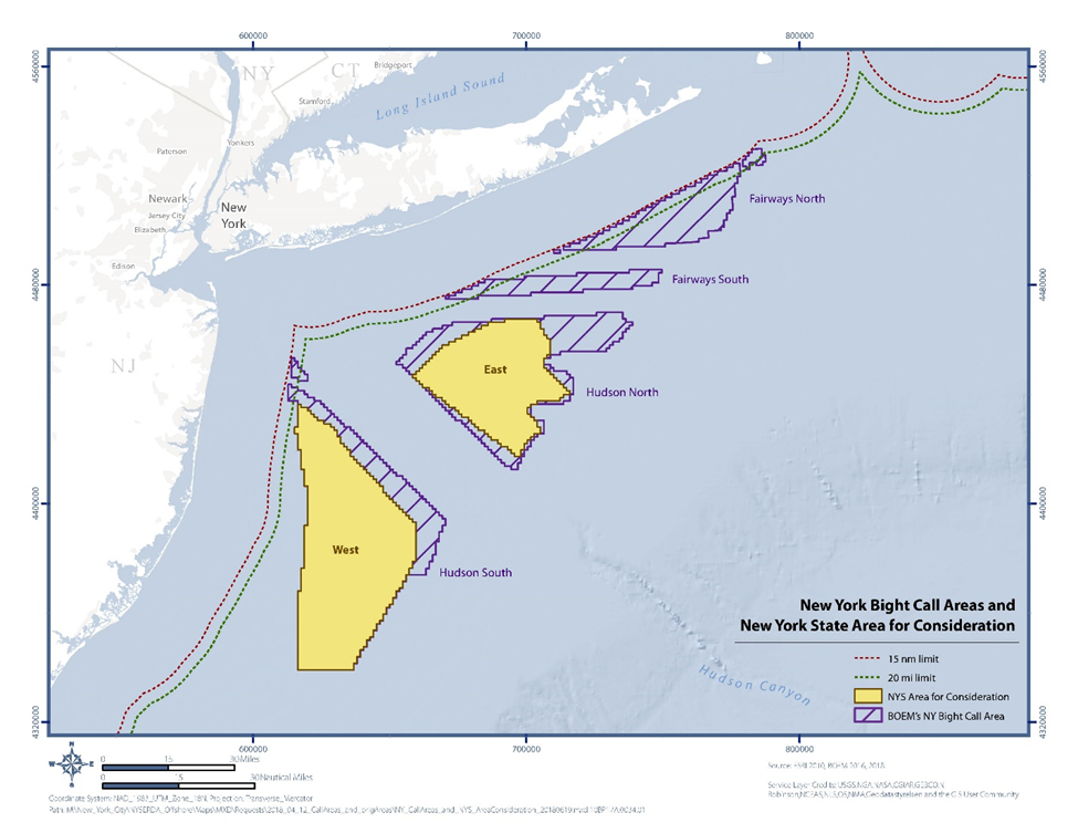 BOEM NY Bight Call Areas