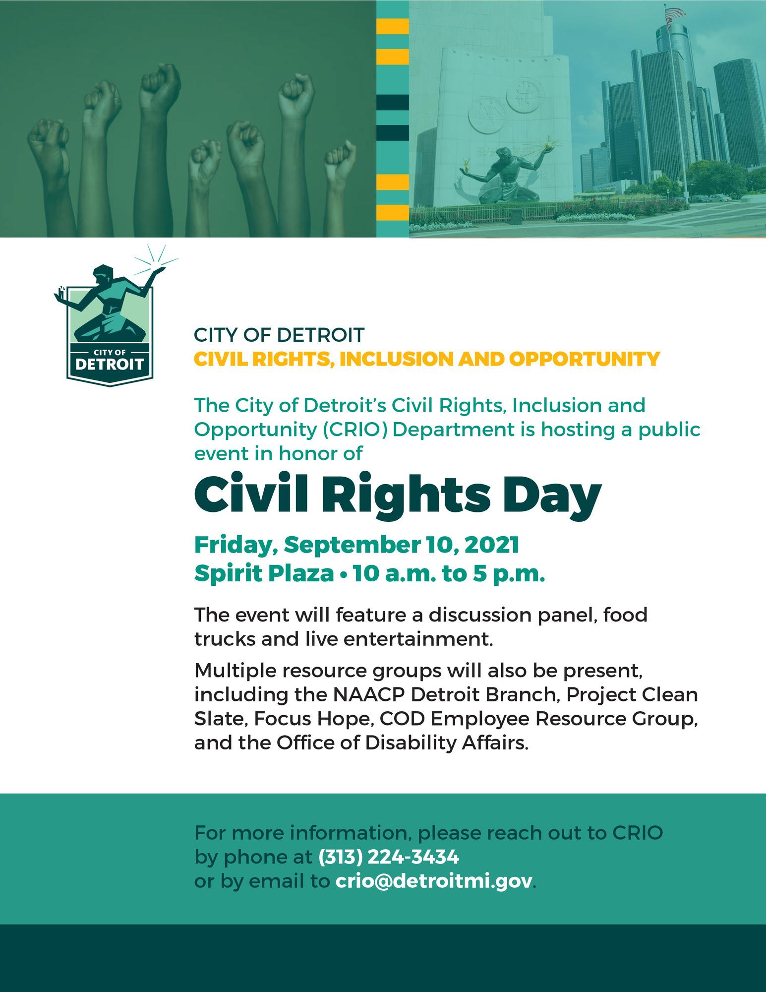 CRIO Civil Rights Day event