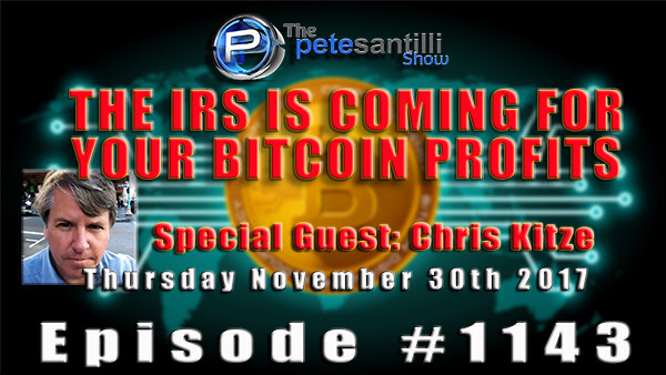 The IRS Is Coming for Your Bitcoin Profits! - Pete Santilli Live With Chris Kitze