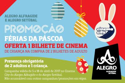 Cinema na Páscoa nos Centros Comerciais Alegro