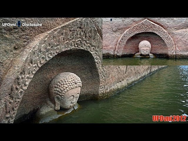 Buddha statue 600 years emerged from the waters of a dam in China  Sddefault