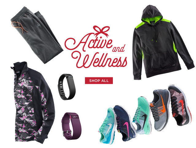 active and wellness. shop all.