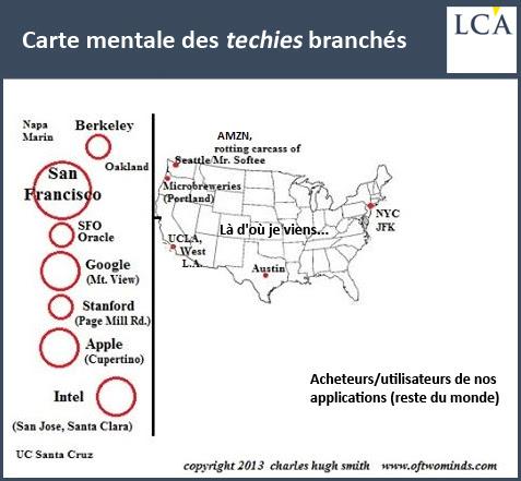 Carte mentale des techies branchés