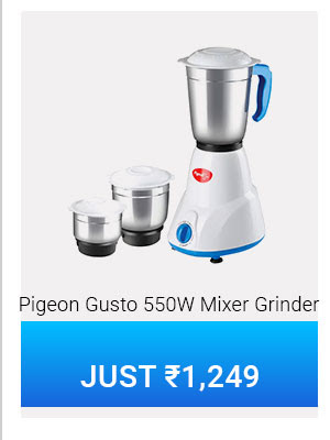 Pigeon Gusto 550 W Mixer Grinder Just Rs1,249