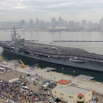 The USS Ronald Reagan returns to San Diego in 2008. Navy photo