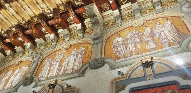 Un detalla del techo de la cueva de Sant Ignasi de Manresa
