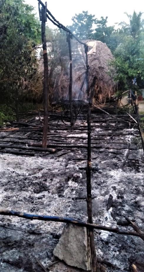 emains of church building set ablaze in Radhapuram village, Tamil Nadu state, India. (Morning Star News)
