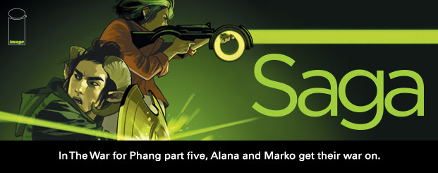 SAGA #41 In *The War for Phang* part five, Alana and Marko get their war on.