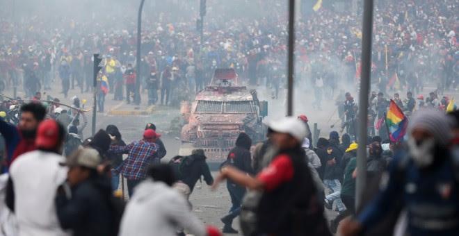 08/10/2019 - Las protestas en Ecuador por las medidas económicas de Lenín Moreno. / REUTERS - IVAN ALVARADO