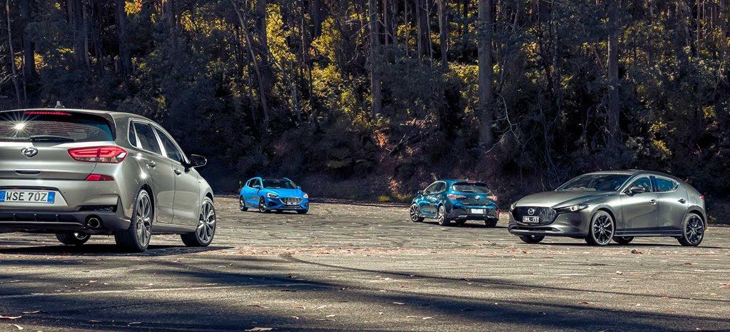 Hatch attack: Mazda 3 Skyactiv X v Ford Focus ST-Line v Hyundai i30 N-Line v Toyota Corolla ZR