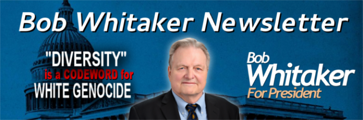 Bob Whitaker: The Whitaker for President Campaign is now Independent