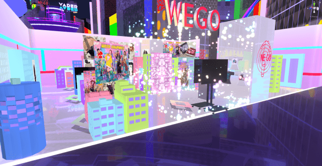 WEGOのVR内店舗イメージ