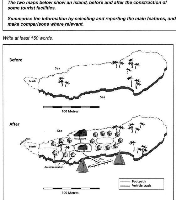 IELTS task 1 maps