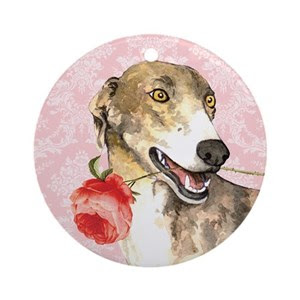 Image result for greyhound with rose