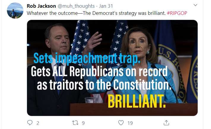 funny tweet saying RIPGOP