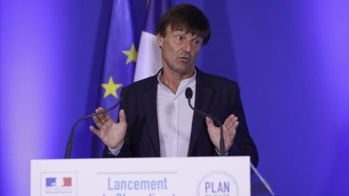 Nicolas Hulot, ministre de la Transition écologique et solidaire, lors du Plan Climat à Paris le 6 juillet 20