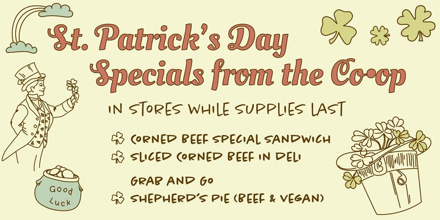 St. Patricks Day Specials