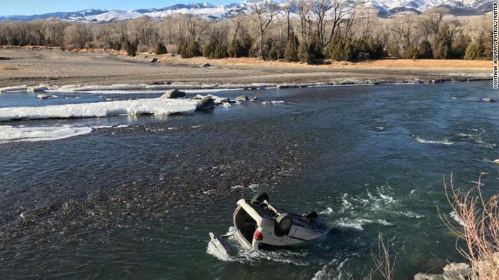 A trooper rescued a woman from this freezing river