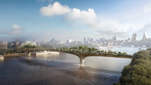 Thomas Heatherwick Exhibition, Garden Bridge by Heatherwick Studio. Image: ARUP