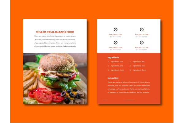 FREE Download Recipes eBook PowerPoint Template