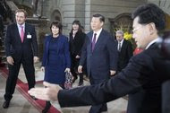 President Xi Jinping of China in Bern, Switzerland, last week. During his visit, Mr. Xi visited the World Economic Forum in Davos, where he hinted that with the United States in retreat, China was prepared to step up as a champion of free trade.