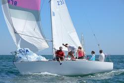J/24 sailing off France