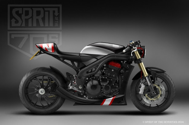Triumph Speed Triple concept by Spirit Of The Seventies