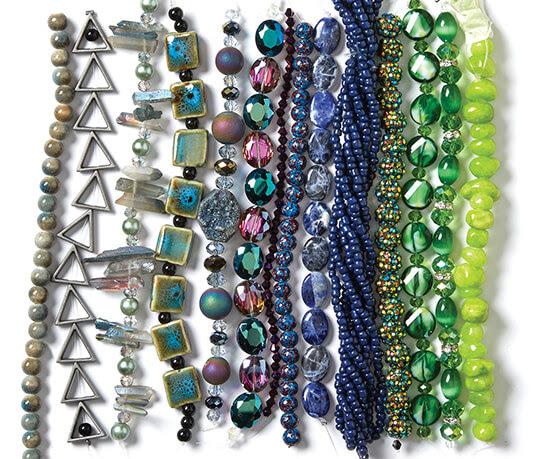 Strung Beads.