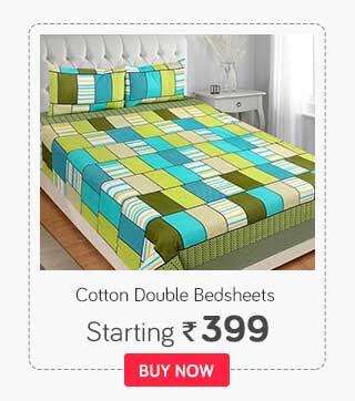 100% Cotton Double BedSheets
