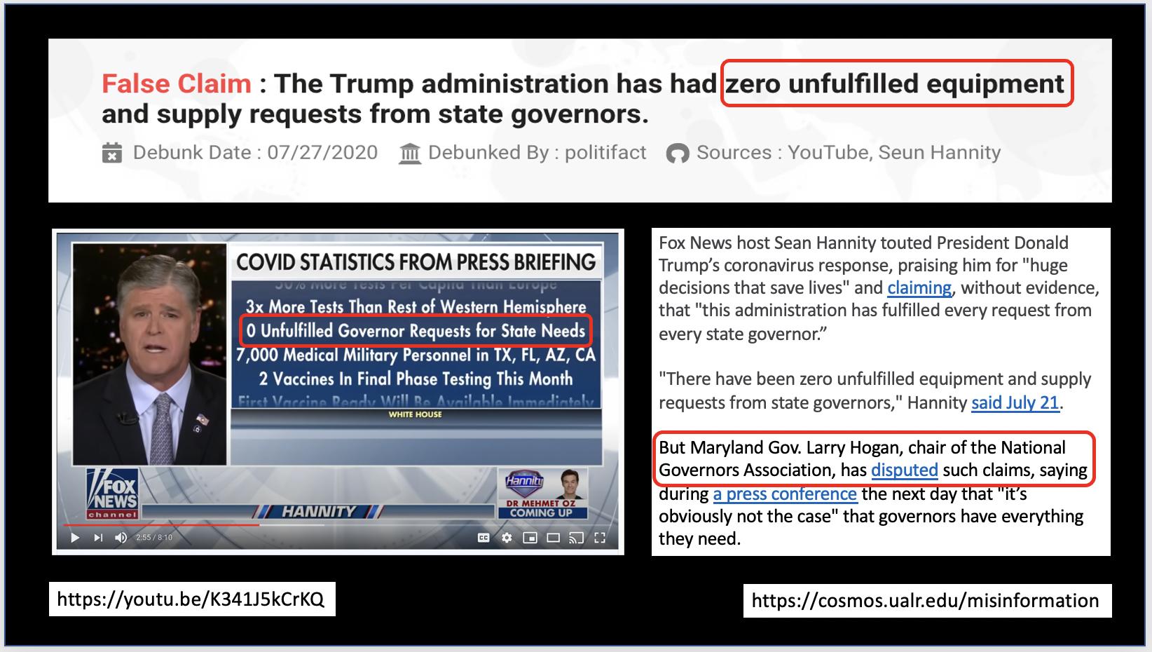 FOX propagates disinformation on YouTube.