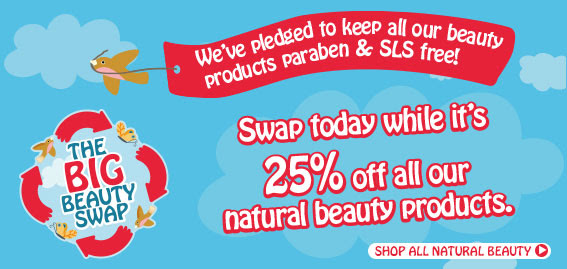 We've pledged to make all our beauty products paraben & SLS free! Swap today while it's 25 percent off all our natural beauty products. The Big Beauty Swap Shop all natural beauty
