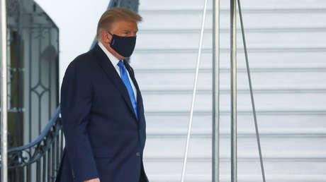 Reportan que Trump tuvo problemas para respirar y recibió oxígeno suplementario antes de ingresar en el hospital
