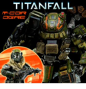 TITANFALL M-COR OGRE WITH PILOT