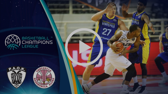 PAOK v Ventspils - Highlights - Basketball Champions League