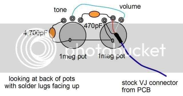 epiphone valve junior tweed tone control mod