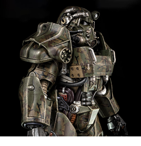Fallout T-60 Power Armor Camouflage 1/6 Scale Figure