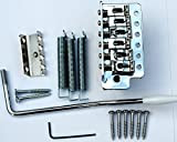 Janika Guitar Tremolo Bridge Vibrato Unit Springs Arm Screws Chrome st New