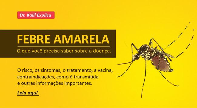 Febre amarela. O que você precisa saber sobre a doença. O risco, os sintomas, o tratamento, a vacina, contraindicações, como é transmitida e outras informações importantes.