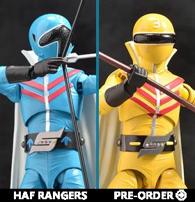 Himitsu Sentai Goranger HAF Aoranger and Kiranger Set of 2 Action Figures