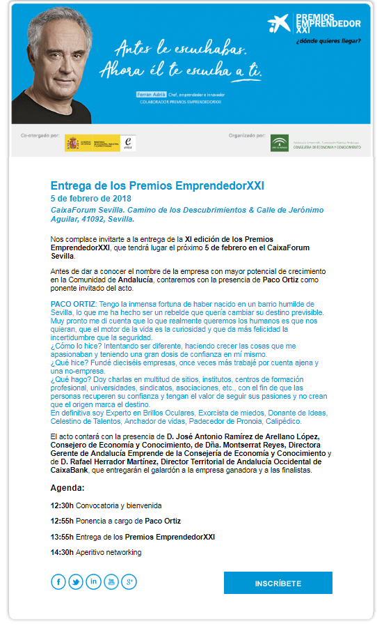Acto Entrega Premios Emprendedor XXI