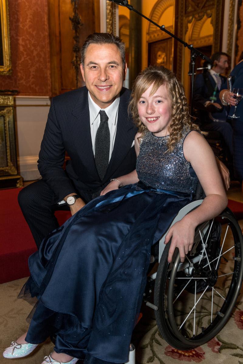 Hayley with David Walliams