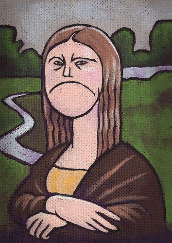 grumpy mona lisa