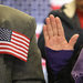 Immigrants taking the oath of citizenship at a naturalization service in Newark last month.