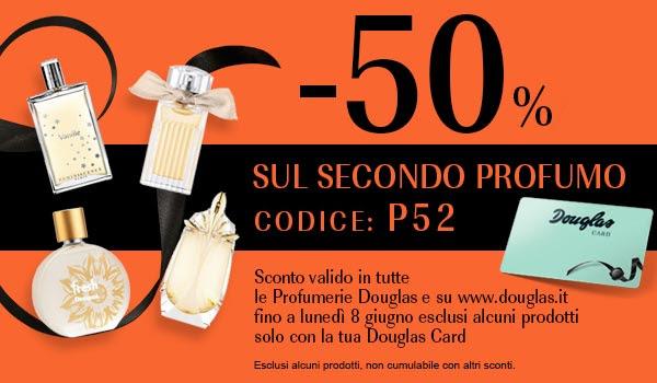 -50% sulla seconda fragranza