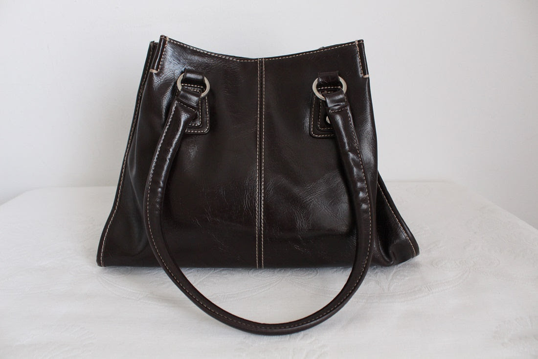 NINE & CO BROWN FAUX LEATHER TOTE BAG