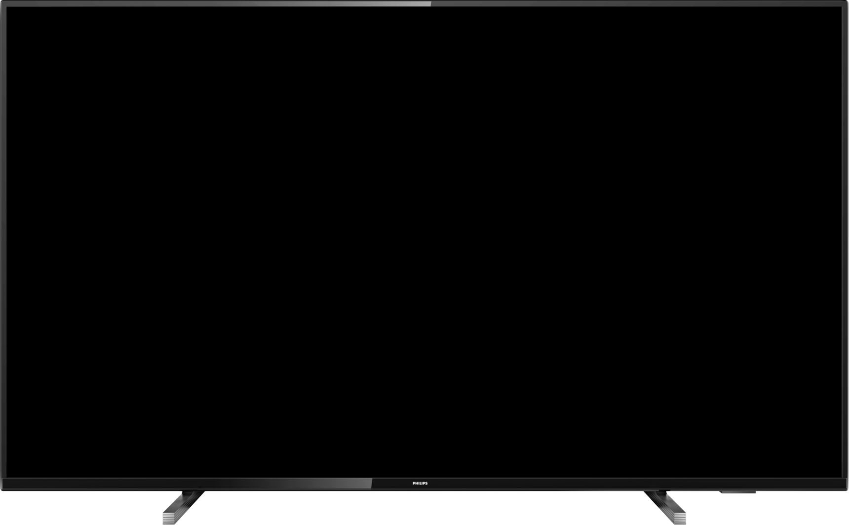 a blank television that probably doesn't need rebooting