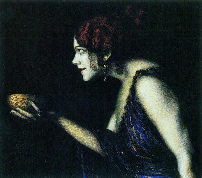 Tilla Durieux as  Circe (Тилла Дюрье в роли Цирцеи около) 1913 (700x617, 128Kb)
