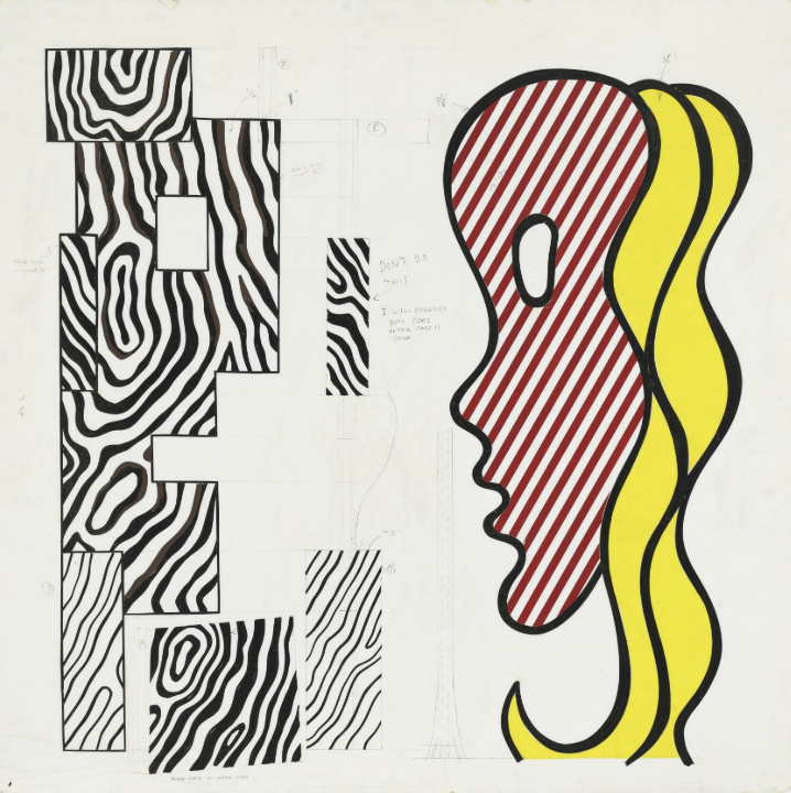 Roy Lichtenstein, The Conversation (Study), c. 1984.