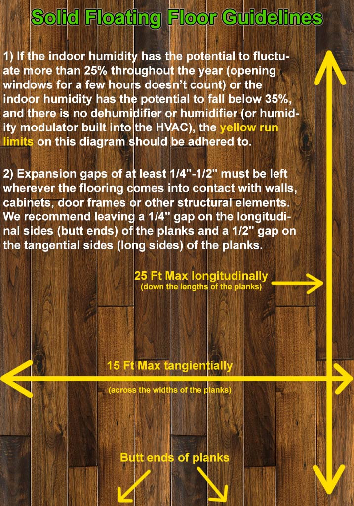 Rules For Floating Solid Bamboo Flooring