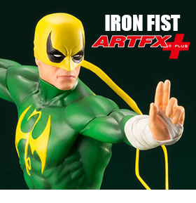 THE DEFENDERS ARTFX+ IRON FIST STATUE